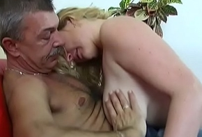 Mingy titted dilettante gets fucked in excess be worthwhile for poses by old dude
