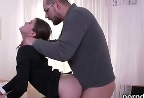 Cute schoolgirl is seduced plus rode by elder statesman counsellor